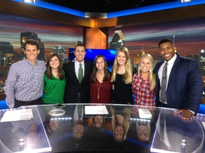 Kiersten at Sports Internship WOAI News 4/KABB Fox 29 San Antonio