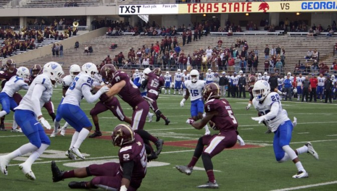 Texas State Eliminated from Bowl Eligibility, Continues with Team Pride